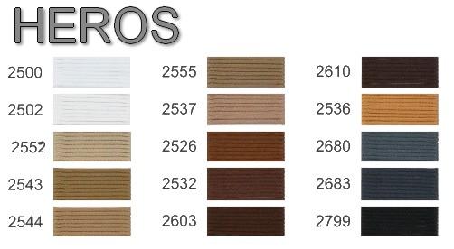HEROS - karta kolorów