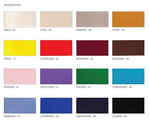 Kolory - wstążka atłasowa.
