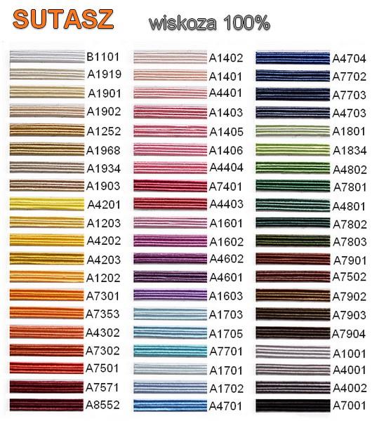 Karta kolorów - Sutasz wiskoza 100%