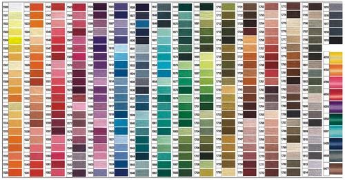 Mulina - kolory